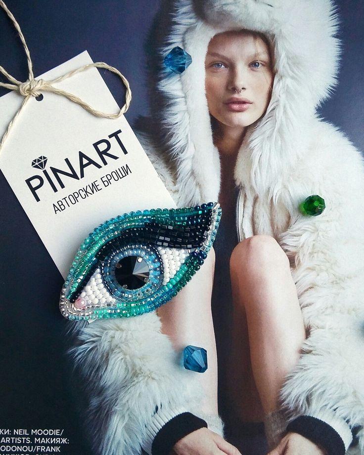 """Брошь """"Глаз"""". Автор: PinArt"""