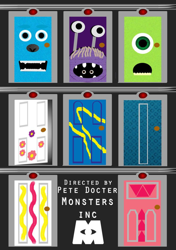 It's just a photo of Ridiculous Monsters Inc Door Printables