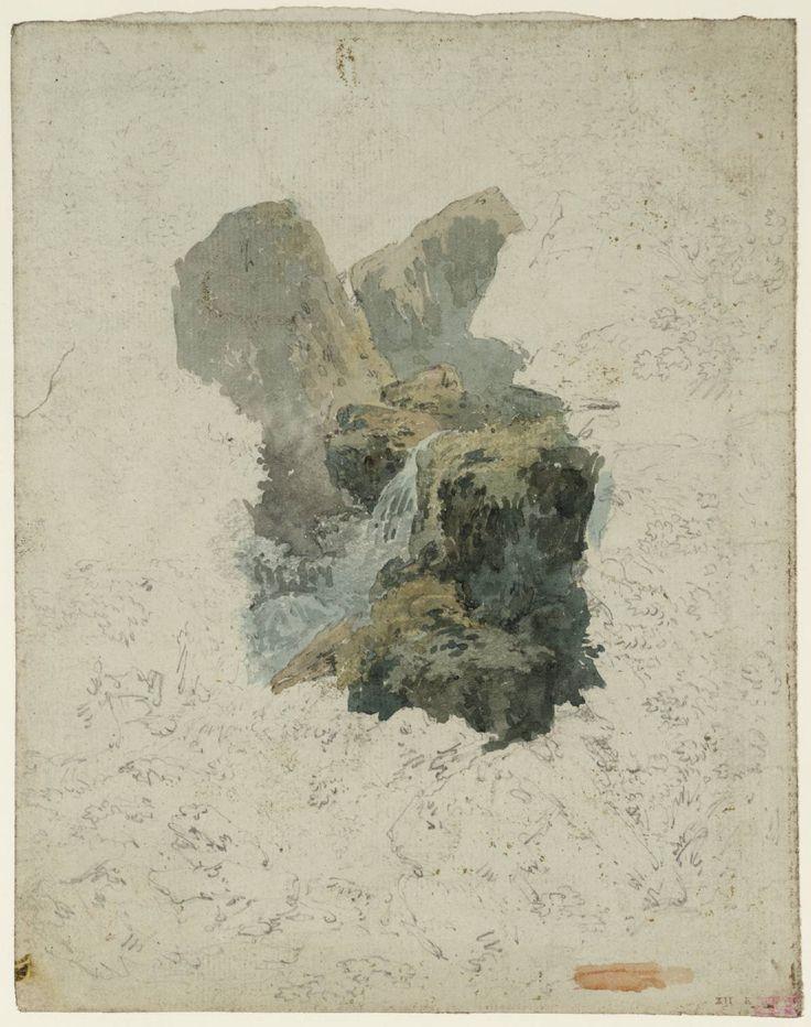 Joseph Mallord William Turner 'A Waterfall among Rocks', c.1792