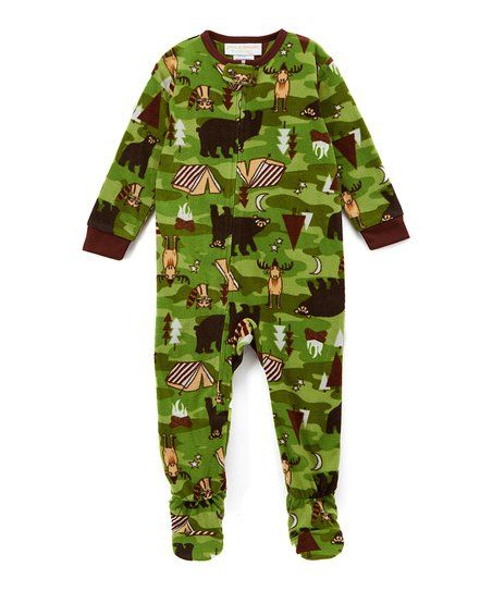 Komar Kids Green Wildlife Footie - Toddler & Boys   zulily
