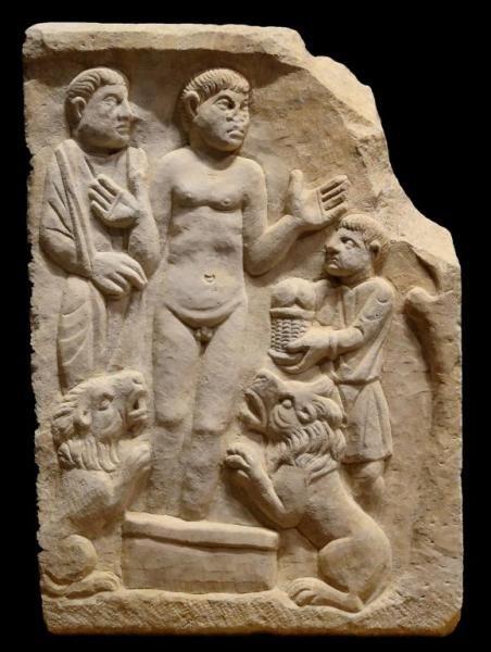 Daniel en el Foso de los Leones - Arte Paleocristiano, principios del S. IV, período Constantiniano