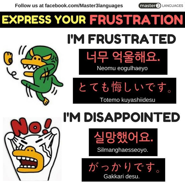 Educational infographic : Educational infographic : How do you Express your Frustrations in your language? #learnjapanese #learnkorean #korean #japanese #language #learn #learning #polyglot #bilingual #graphic #design #graphicdesign #lesson #free