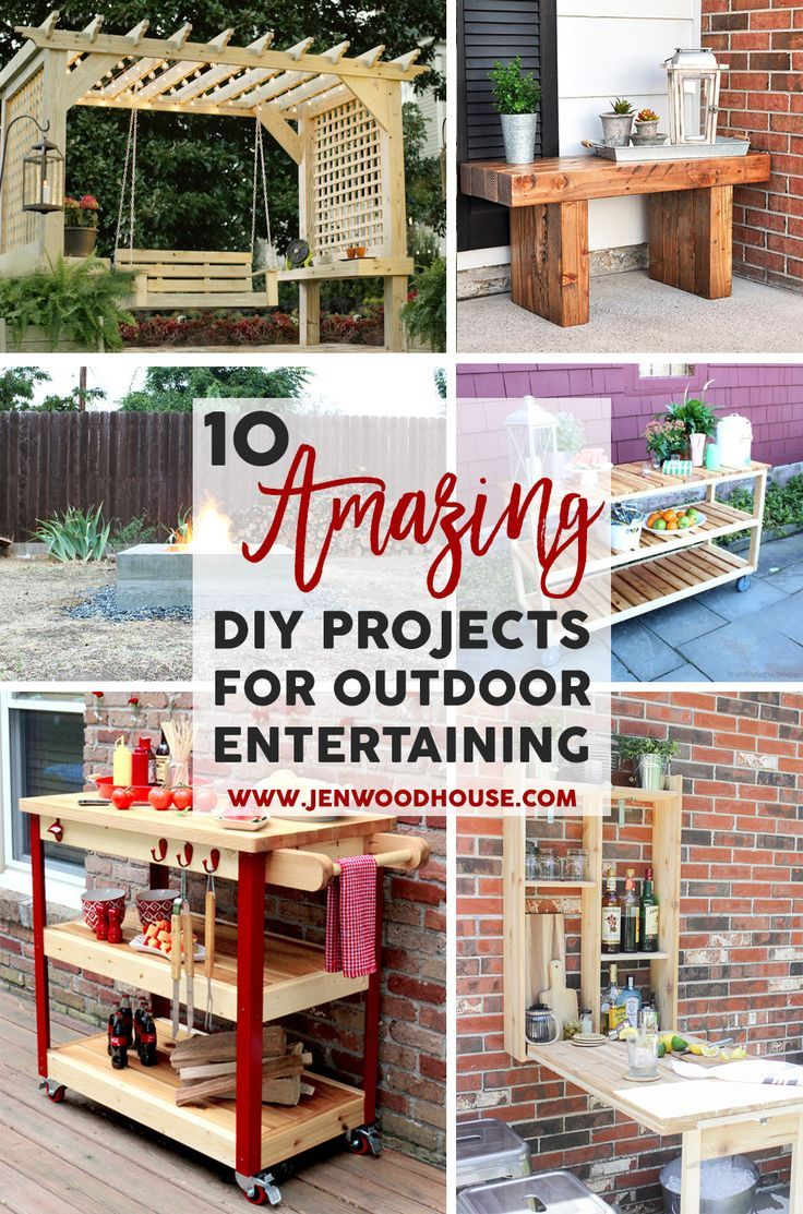 Spruce up your backyard with these 10 amazing DIY project ideas that will take your outdoor entertaining to the next level.