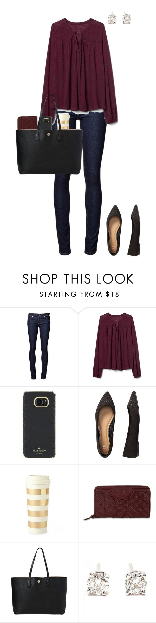 """""""Untitled #367"""" by blueblondie89 ❤ liked on Polyvore featuring Naked & Famous, Gap, Kate Spade, Tory Burch and Tiffany & Co."""