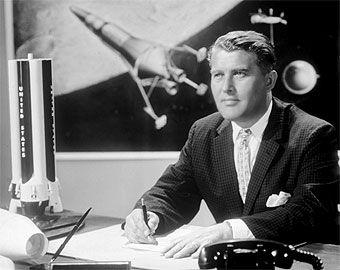 Werner Von Braun, the architect of the saturn V, the very ...