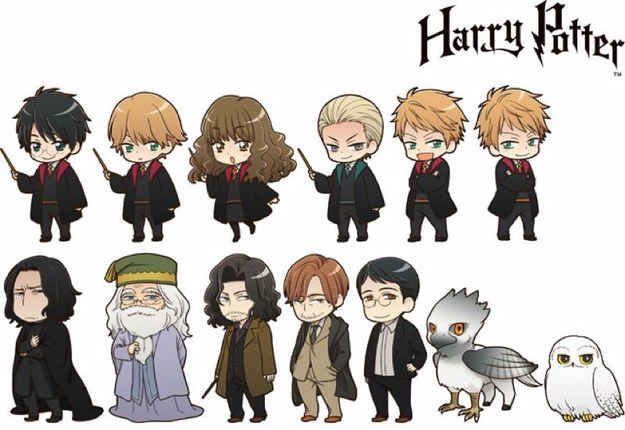 Warner Bros. has just licensed the FIRST-ever collection of anime Harry Potter characters. TBH Snape looks a tad like Kylo Ren. :D