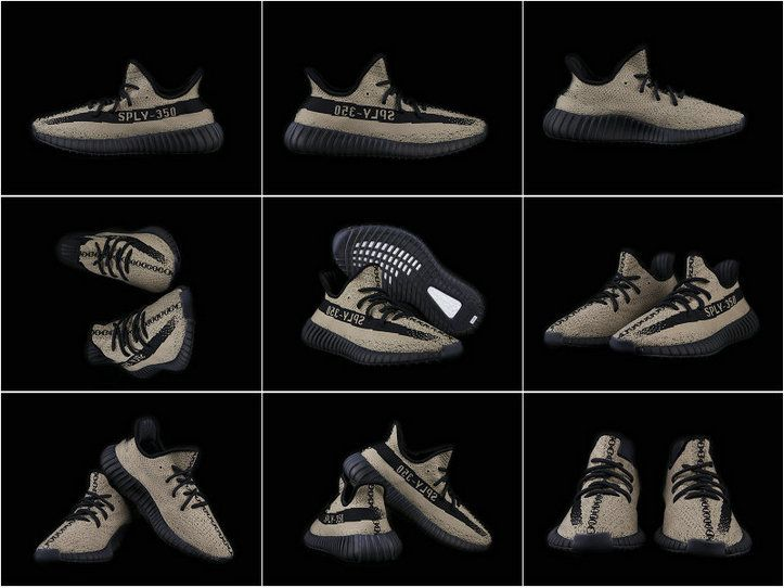 Adidas Yeezy Boost 350 V2 Blackish Green Olive Green 2016 2017 chaussures de course Running Shoes