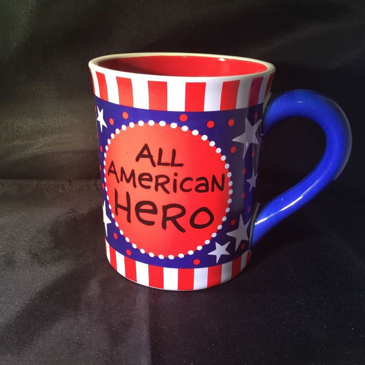 Lorrie Veasey Our Name Is Mud Coffee Mug Cup All American Hero Patriotic