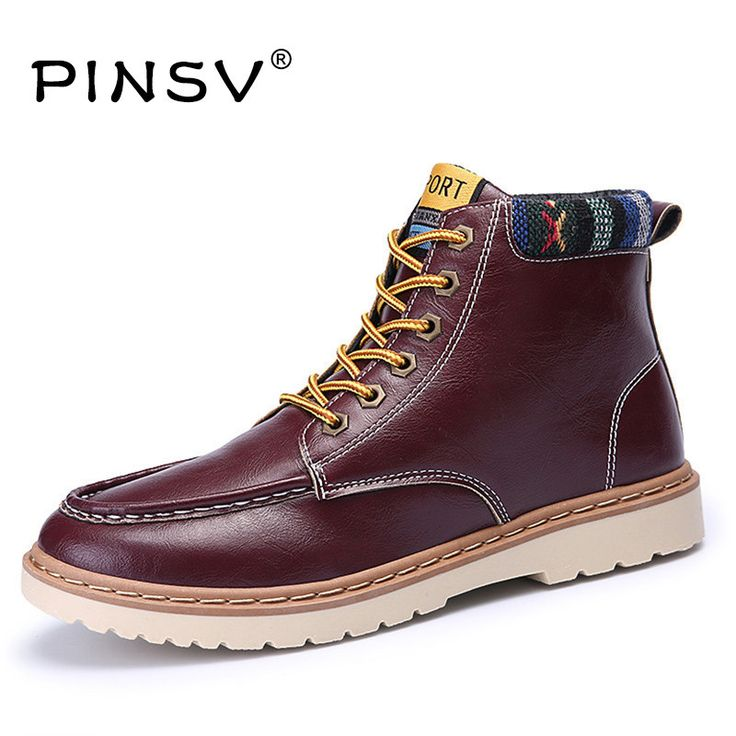 4 Colours Autumn Shoes Men Timber Boots Men Shoes Artificial Leather Cowboy Boots For Men Flats Shoes Chaussure Homme