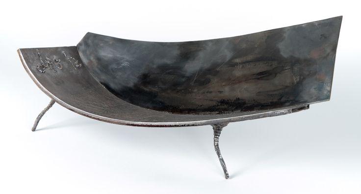 Anadora Lupo metal sculpture - legged bowl