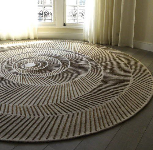 Contemporary Rug / Silk / Wool / Patterned NAUTILUS By Damien Langlois  Meurinneu2026