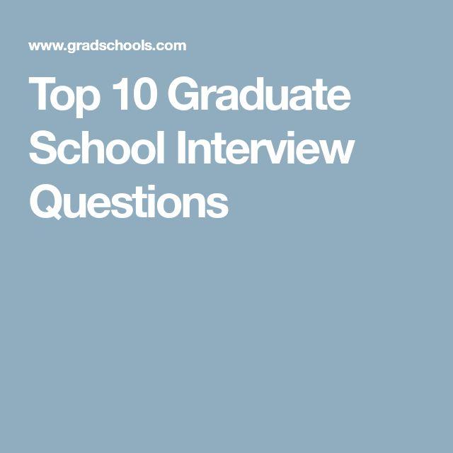 Top 10 Graduate School Interview Questions