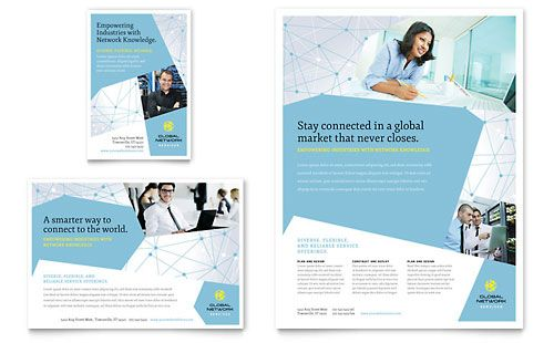 Global Network Services Flyer & Ad Template by @StockLayouts