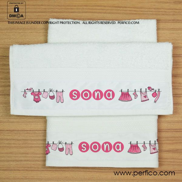 Love Pink © Personalized Hand Towel for Her