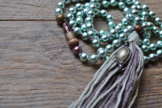 Spiritual Beaded Necklace Listen by ShinseinaJewellery