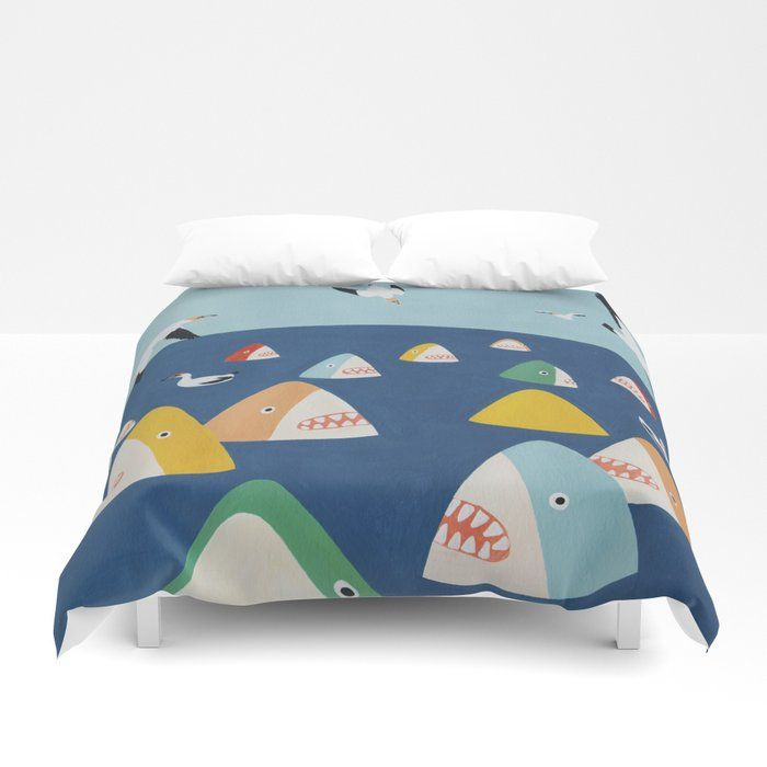 Buy Shark Park Duvet Cover By Lorienstern Worldwide Shipping