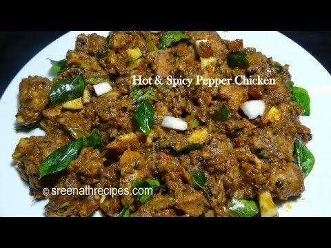 Hot and Spicy Pepper Chicken - Chettinad Pepper Chicken - Pepper Chicken...