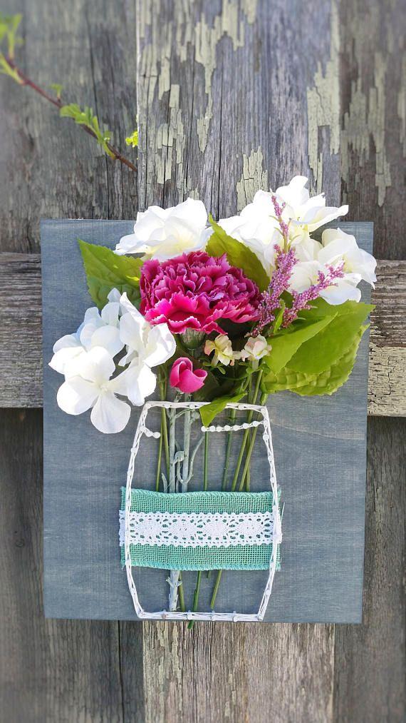 Tarro de masón cadena arte arte Floral de la cadena muestra