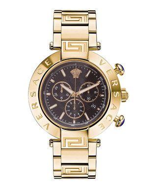 Reve gold-tone & black dial watch Sale - Versace Sale