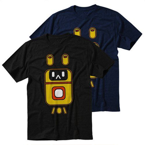 Black+Men's+Tshirt+Cute+Catbot+Black+Shirt+For+Men