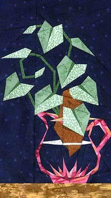 Sweet Potato Vine Paper-Pieced Quilt Pattern at Paper Panache