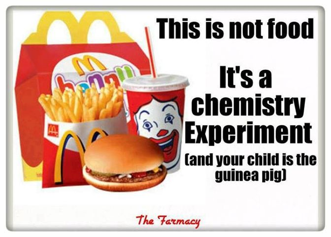 Image result for health warning with happy meals