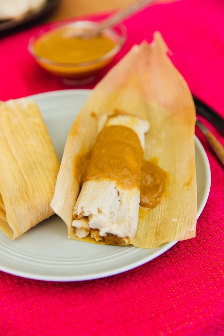 Chicken Tamales with Pumpkin Mole