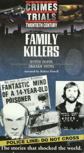 Great Crimes and Trials of the Twentieth Century: Family Killers Defoe on vhs in…