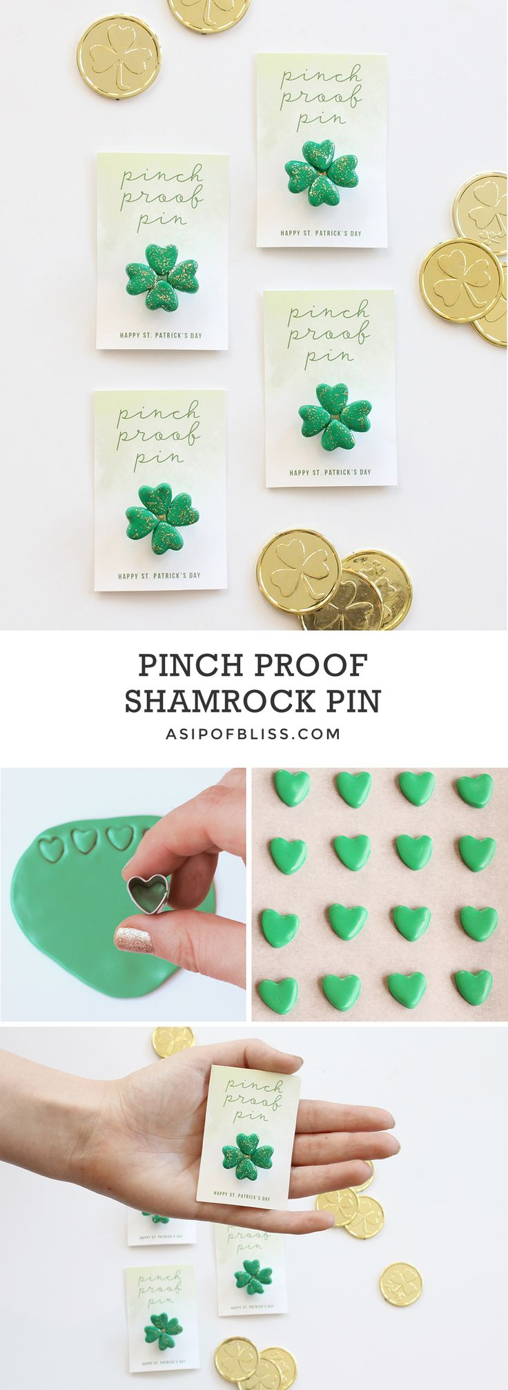 How to make april fools day chocolate bunny filled with veggies - Pinch Proof Shamrock Pin Free Printable