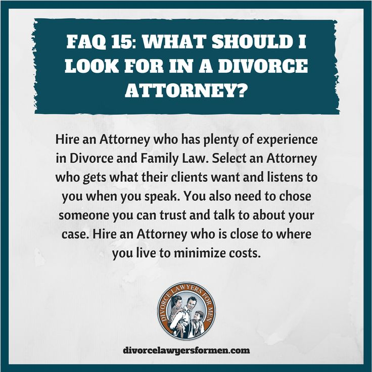 What should you look for in a Divorce Attorney?