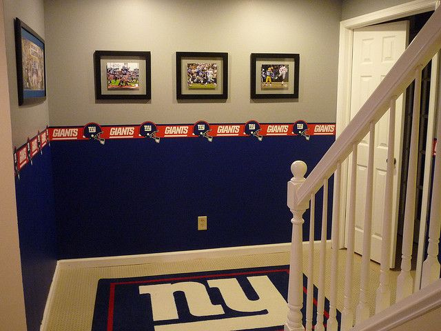 Giants Fan Cave Big Blue Fan Caves Pinterest Fans