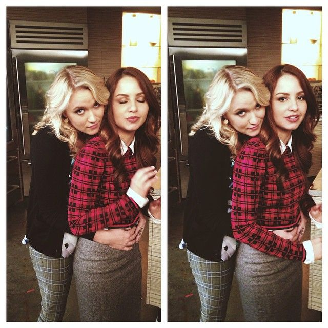 Emily Osment and Aimee Carrero are so cute! | Young & Hungry