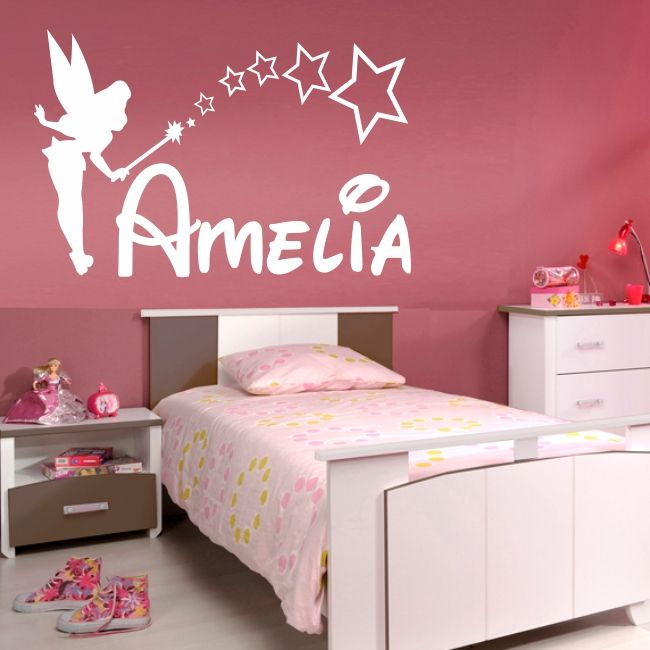 Details about PERSONALISED FAIRY wall sticker girls name ...