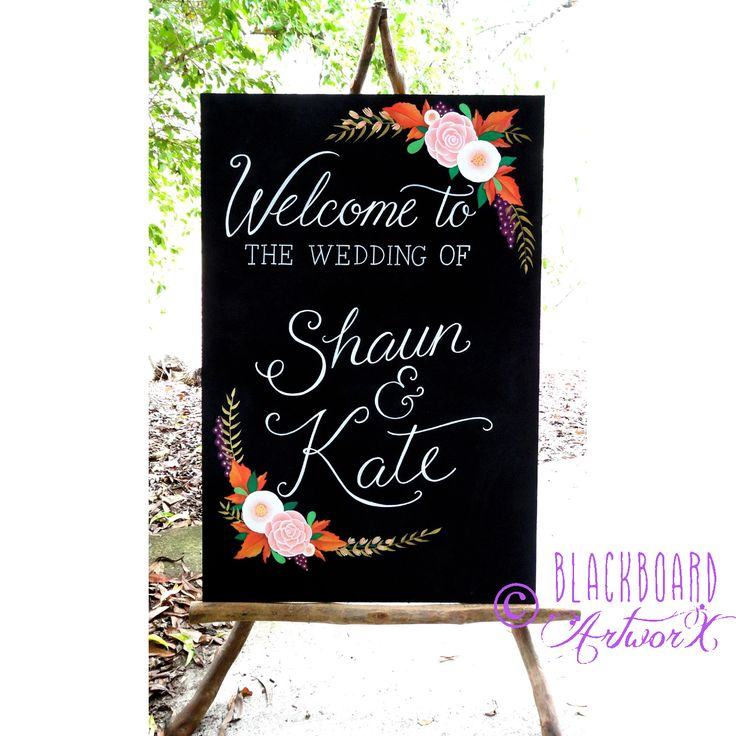 Amazing Congratulations Shaun And Kate U003c3 Such A Gorgeous Colour Palette,  Incorporating Autumn Leaves From. Blackboard ...