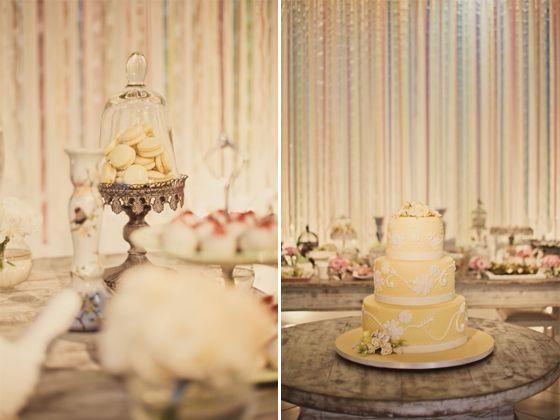Casamento feito à mão: Cortina de fitas {delicada}