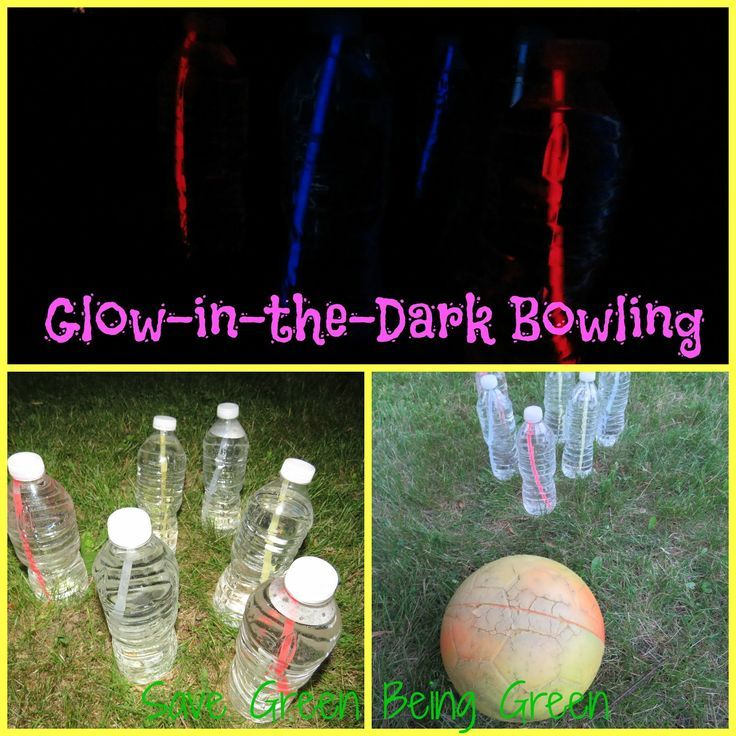 Glow In the Dark Bowling - fun game to play inside or outside: