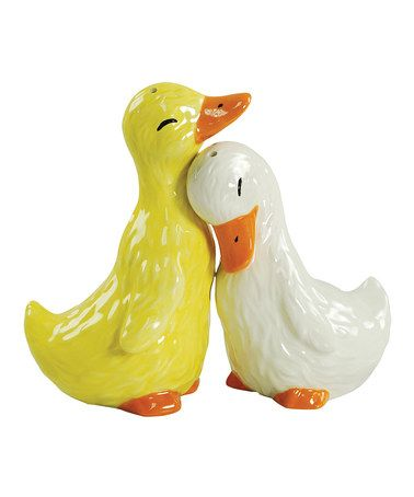 Love this Duck Salt & Pepper Shakers on #zulily by Westland Giftware, $11 !!   #zulilyfinds