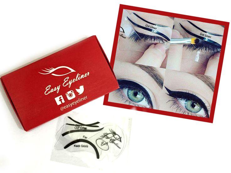 Easyeyeliner ile eyeliner kullanmak artık çok kolay. Easyeyeliner kutu içeriğinde 2 easyeyeliner mevcut, 4 çeşit eyeliner çekme özelliği; üst liner, dip liner, kedi gözü ve far. Türkiye'nin her yerine gönderim yapılmaktadır. #easyeyeliner #eyeliner#kolayeyeliner #makeup #makeupartist#instamakeup #instamakeupartist#kozmetik #gozmakyaji #kedigözü#catliner #eye #black #makyaj #siparis #far#headlights #ruj #fondoten #rimel#mascara #allik #oje #instagood #takip #moda