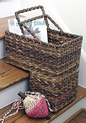 Stair Basket, Woven Basket, Woven Stair Baskets