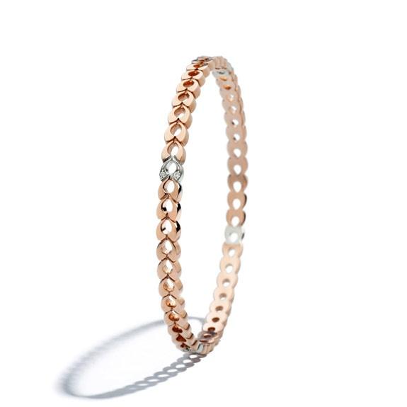 PONDICHERRY QUERIOT bracciale rigido bracelet oro rosa oro bianco gold rose white jewellery gioiello fashion luxury