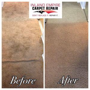 CARPET CLEANING - Inland Empire Carpet Repair - Don Splitt - (909) 436-6080 - 4880 Victoria Ave. Riverside, CA 92507 - 10% Discount on carpet repair, pet damage, ripples, burn and tears.