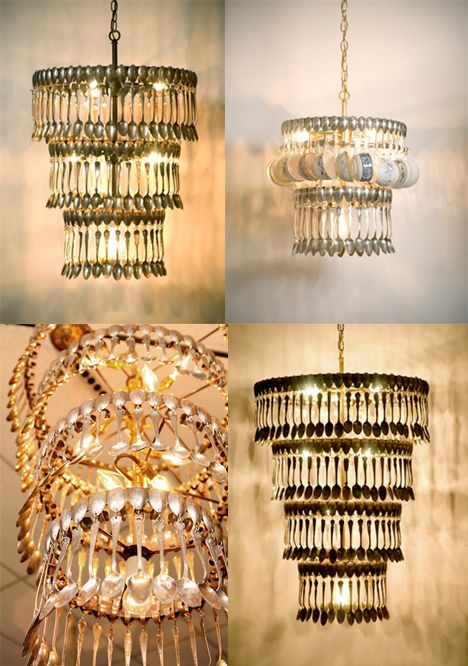 Quoting my mom it 39 s very neat yeah i agree pin now for Spoon chandelier diy