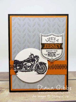 One Wild Ride Embossing Paste Diana Gibbs inspired by Jennifer Michalski
