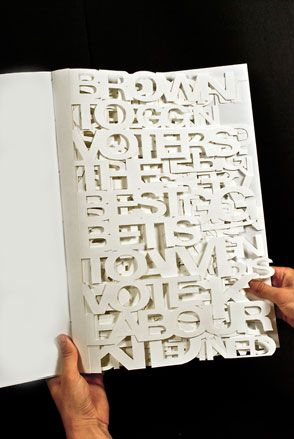 Russell Hendrie KINGSTON UNIVERSITY Visual Communication Hendrie's work, 'Election 2010' is a typographic amalgamation of opposing headlines leading up to the 2010 elections. Already an RSA Student Award winner, Hendrie collaborates with fellow student Paul Bailey, focusing on everything from iPad apps to designing Royal Mail stamps. #finecraft