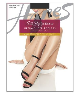 1b15094f2a1 Silk Reflections Womens Lasting Sheer Control Top Toeless Pantyhose Womens