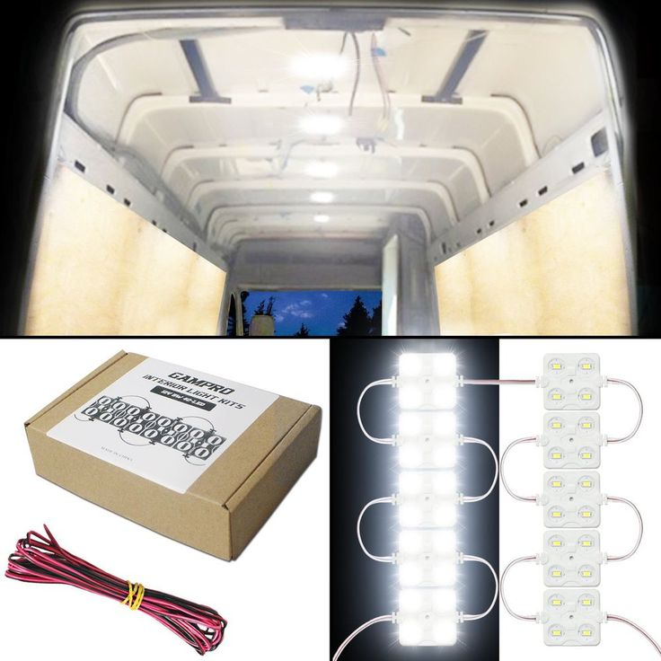 40 LED 12V Cargo Camper RV Interior Light Kit Trailer Truck Any 12V Vehicles 8W #GAMPRO