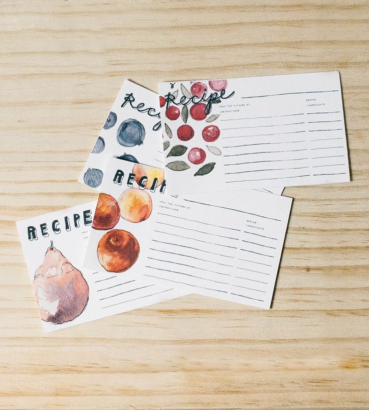 fruits recipe card set 24 cards