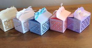 Lovely Handmade Favour / Gift Boxes Coloured Card Pack of 10    eBay