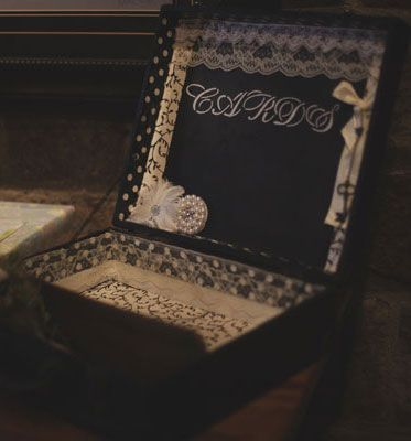 a vintage diy wedding, chalkboard paint, crafts, mason jars, repurposing upcycling, This vintage suitcase was transformed into a fun card box by adding a fabric bottom and a chalkboard lid