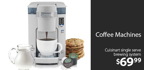 Coffee MacHines -                                                                         Refurbished Cafe Roma Espresso Maker                                 Refurbished Single Serve Brewer                                 Refurbished Gourmet Single-Cup Brewer                                 Refurb the...  #Clock, #CoffeeMaker, #Enhancer, #Pump, #ShowerHead, #Spoon, #Storage, #Timer
